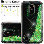Diamond Quicksand Glitter Transparent Case for LG K20 Plus / K20 V / K10 (2017) / Harmony - Green