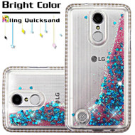 Diamond Quicksand Glitter Transparent Case for LG K20 Plus / K20 V / K10 (2017) / Harmony - Blue