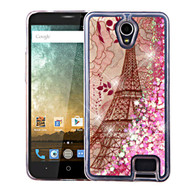 Quicksand Glitter Transparent Case for ZTE Avid Plus / Avid Trio / Maven 2 / Prestige / Sonata 3 - Eiffel Tower