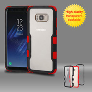 TUFF Vivid Hybrid Armor Case for Samsung Galaxy S8 - Black Red