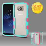 TUFF Vivid Hybrid Armor Case for Samsung Galaxy S8 - Teal Green Hot Pink