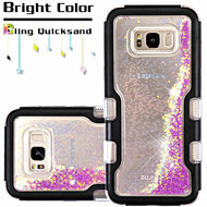 *Sale* TUFF Quicksand Glitter Hybrid Armor Case for Samsung Galaxy S8 - Beads Black Purple