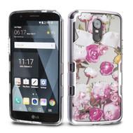 *SALE* TUFF Panoview Transparent Hybrid Diamond Case for LG Stylo 3 / Stylo 3 Plus - Roses