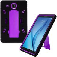 *Sale* Explorer Impact Armor Kickstand Hybrid Case for Samsung Galaxy Tab E 9.6 - Black Purple