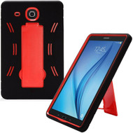 Explorer Impact Armor Kickstand Hybrid Case for Samsung Galaxy Tab E 9.6 - Black Red