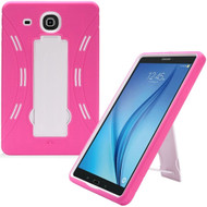 Explorer Impact Armor Kickstand Hybrid Case for Samsung Galaxy Tab E 9.6 - Hot Pink White
