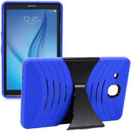 Shockproof Armor Kickstand Case for Samsung Galaxy Tab E 9.6 - Blue