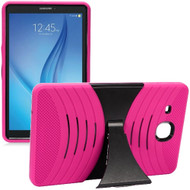 Shockproof Armor Kickstand Case for Samsung Galaxy Tab E 9.6 - Hot Pink