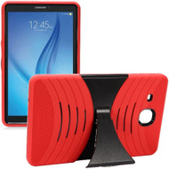 Shockproof Armor Kickstand Case for Samsung Galaxy Tab E 9.6 - Red
