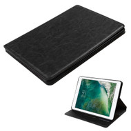 Book-Style Leather Folio Case for iPad (2018/2017) - Black