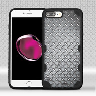 Military Grade Certified Freestyle Challenger Graphic Hybrid Case for iPhone 8 Plus / 7 Plus - Diamond Plate