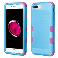 Military Grade Certified Brushed TUFF Hybrid Armor Case for iPhone 8 Plus / 7 Plus / 6S Plus / 6 Plus - Baby Blue Purple