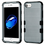 Military Grade Certified Brushed TUFF Hybrid Armor Case for iPhone 8 / 7 / 6S / 6 - Slate Blue