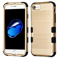 Military Grade Certified Brushed TUFF Hybrid Armor Case for iPhone 8 / 7 / 6S / 6 - Gold