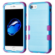 Military Grade Certified Brushed TUFF Hybrid Armor Case for iPhone 8 / 7 / 6S / 6 - Baby Blue Purple