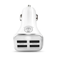 HyperGear High Power Quad USB 6.8A Car Charger - White
