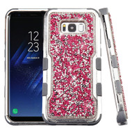 Military Grade Certified TUFF Vivid Mini Crystals Hybrid Armor Case for Samsung Galaxy S8 - Pink