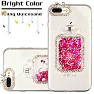 3D Perfume Bottle Quicksand Glitter Diamond Case for iPhone 8 Plus / 7 Plus - Hot Pink