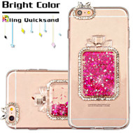 *Sale* 3D Perfume Bottle Quicksand Glitter Diamond Case for iPhone 6 / 6S - Hot Pink