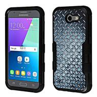 Military Grade TUFF Armor Case for Samsung Galaxy J3 (2017) / J3 Emerge / J3 Prime / Amp Prime 2 / Sol 2 - Diamond Plate
