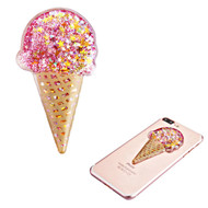 Adhesive Quicksand Glitter Sticker - Ice Cream Pink