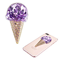 Adhesive Quicksand Glitter Sticker - Ice Cream Purple