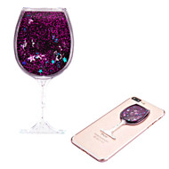 Adhesive Quicksand Glitter Sticker - Wine Glass Purple