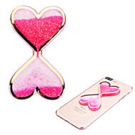 Adhesive Quicksand Glitter Sticker - Double Hearts Hot Pink