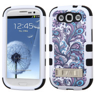 Military Grade Certified TUFF Image Hybrid Armor Case with Stand for Samsung Galaxy S3 - Persian Paisley