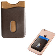 Adhesive Leather Card Pocket Pouch - Brown