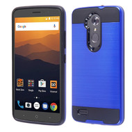 *Sale* Brushed Hybrid Armor Case for ZTE Max XL / Blade Max 3 - Blue
