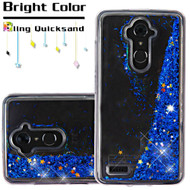 Quicksand Glitter Transparent Case for ZTE Max XL / Blade Max 3 - Blue