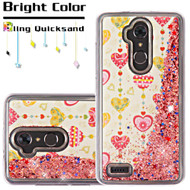*SALE* Quicksand Glitter Transparent Case for ZTE Max XL / Blade Max 3 - Heart Pendant