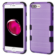 Military Grade Certified Brushed TUFF Hybrid Armor Case for iPhone 8 Plus / 7 Plus / 6S Plus / 6 Plus - Purple
