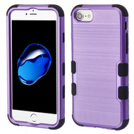 Military Grade Certified Brushed TUFF Hybrid Armor Case for iPhone 8 / 7 / 6S / 6 - Purple