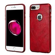 Luxury Leather Fusion Case for iPhone 8 Plus / 7 Plus / 6S Plus / 6 Plus - Red