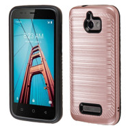 Brushed Multi-Layer Hybrid Armor Case for Coolpad Defiant - Rose Gold