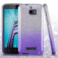 Full Glitter Hybrid Protective Case for Coolpad Defiant - Gradient Purple