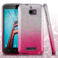 Full Glitter Hybrid Protective Case for Coolpad Defiant - Gradient Hot Pink