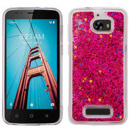 Quicksand Glitter Transparent Case for Coolpad Defiant - Red