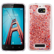 Quicksand Glitter Transparent Case for Coolpad Defiant - Rose Gold