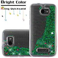 Quicksand Glitter Transparent Case for Coolpad Defiant - Green