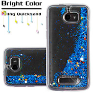Quicksand Glitter Transparent Case for Coolpad Defiant - Blue