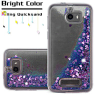 Quicksand Glitter Transparent Case for Coolpad Defiant - Purple