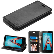 *Sale* Book-Style Leather Folio Case for Coolpad Defiant - Black