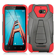 *Sale* Fusion Multi-Layer Hybrid Kickstand Case for Coolpad Defiant - Red