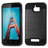 *Sale* Brushed Hybrid Armor Case for Coolpad Defiant - Black