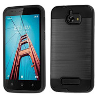 Brushed Hybrid Armor Case for Coolpad Defiant - Black