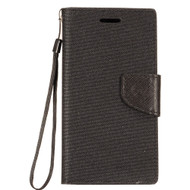 *Sale* Leather Wallet Shell Case for Coolpad Defiant - Black
