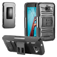 Advanced Armor Hybrid Kickstand Case with Holster for Coolpad Defiant - Black